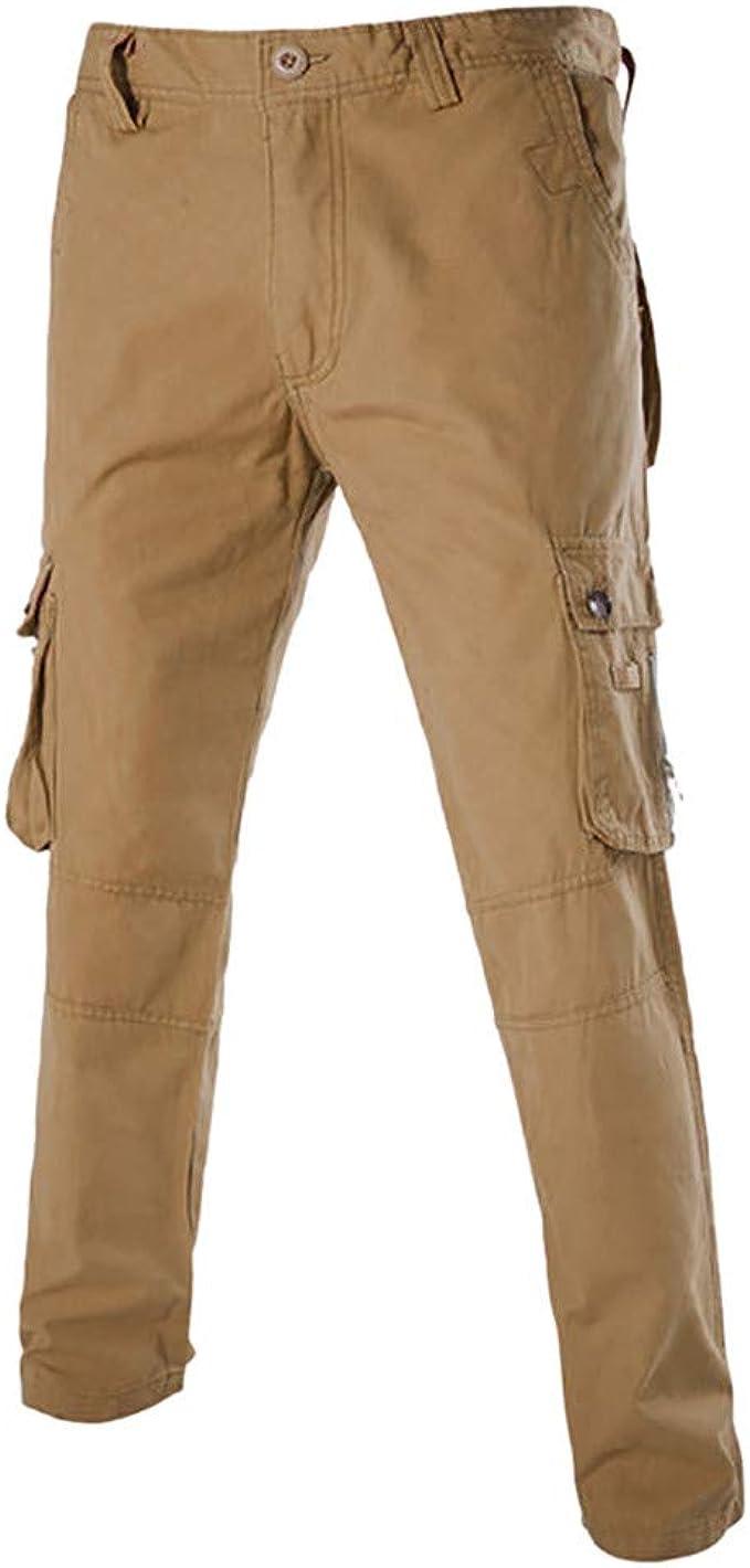 UINGKID - Pantalones de chándal para Hombre Caqui 34: Amazon ...