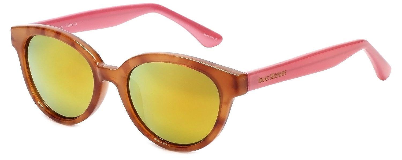 c1e40ccc25482 Amazon.com  Isaac Mizrahi Designer Sunglasses IM68-26 in Honey Tortoise  Pink with Orange Mirror Lenses  Clothing