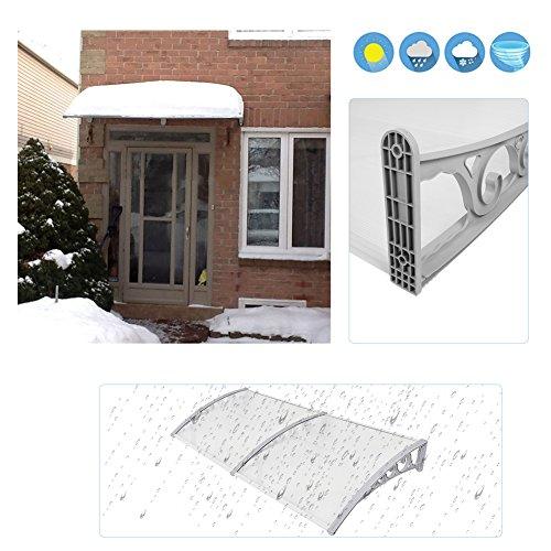 Door Window Outdoor Awning Patio Cover DIY Overhead Door Canopy Decorator 100X200cm