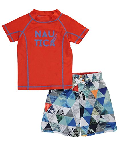 Nautica Boys' Rashguard Set With UPF 50+ Sun Protection