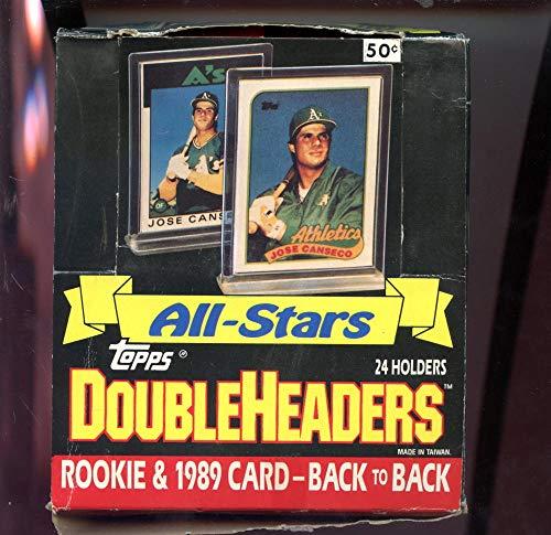 1989 Topps DoubleHeaders All-Stars Baseball Set 16 Wax Pack Box Double Headers
