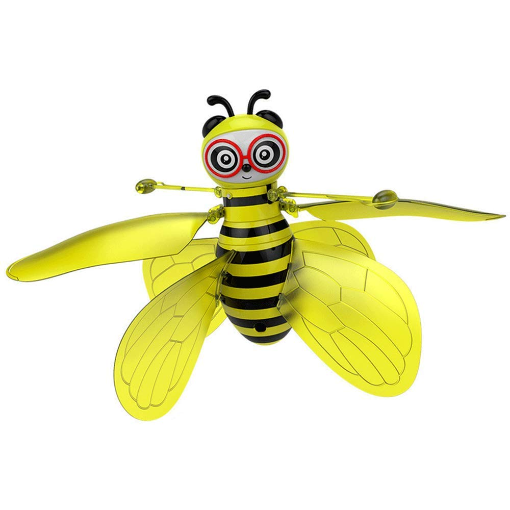 7COLOR WINGS Hanging Helicopter Toys Hand Controlled Gravity Sensing Bee Helicopters 360°Rotating Mini Drone Toy Kids Adults (A) by 7COLOR WINGS