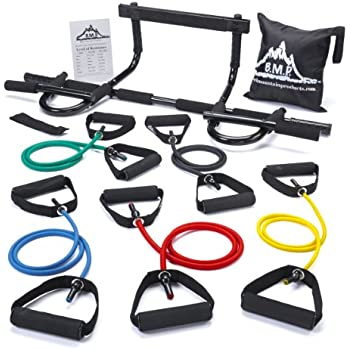 Amazon Com Black Mountain Products Pull Up Bar And Resistance