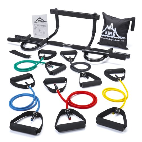 Black Mountain Products Pull Up Bar and Resistance Bands]()