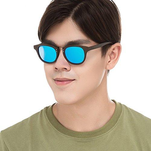 Madera C86 Sol Gafas Gafas Amarillo BLUE TIANLIANG04 Retro Sol Acetato Polarizadas C19 De De Unisex De De Similar gfBfqw674