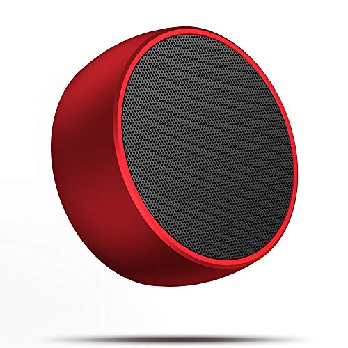 Portable Bluetooth Speakers,Mini Wireless Bluetooth Speaker for Outdoors with Bass and Loud HD Stereo Sound,Built-in Mic,Car Handsfree Call, AUX and TF Card for iPhone,iPad,Tablet,Laptop,red