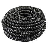 "225FWY 100 Ft 1/8"" 3mm Split Wire Loom Conduit Polyethylene Tubing Black Color Sleeve Tube"