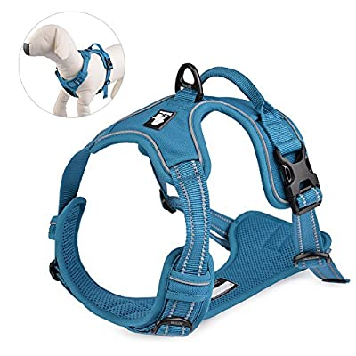 Petacc Dog Harness Front Range Service Dog Vest 3M Reflective Outdoor Adventure Pet Vest with Handle