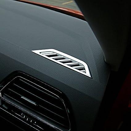 High Flying Für Tiguan 2 Tiguan 2 Allspace 2016 2020 Silber Matt Interieur A C Gitter Dekor Abs Kunststoff 2 Stück Auto