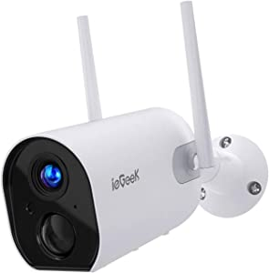 Wireless Security Camera Outdoor, Wireless Rechargeable Battery Powered Camera 15000mAh, 1080P WiFi Surveillance Camera for Home with Night Vision, Two Way Audio, PIR Motion Detection, IP65 Waterproof