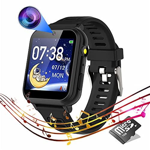 Reloj Smartwatch para chicos de 4 a 12 años - Negro