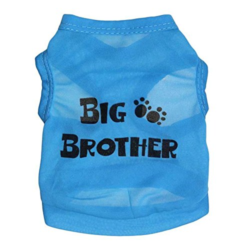 T JULY Shirt Brother Print Blue product image