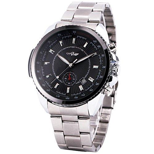 Winner Men Automatic Mechanical Watch Stainless Steel Strap