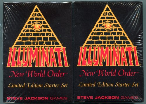 1994-1995 - Illuminati New World Order collectible card game - (INWO Limited Edition Starter Set) Factory Sealed 2 Double Decks 55 cards each INWO rulebook (110 Cards total) By Steve Jackson (Limited Edition 1st Printing 1994) (INWO , Starter Set) by INWO
