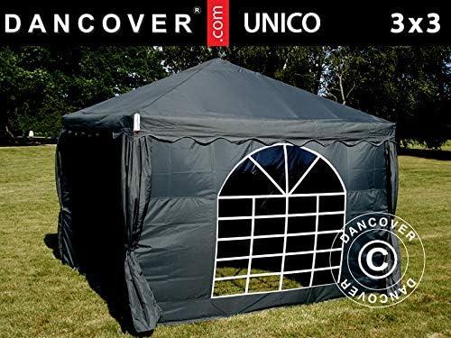 Dancover Carpas para Fiestas Unico 3x3m, Negro: Amazon.es: Jardín