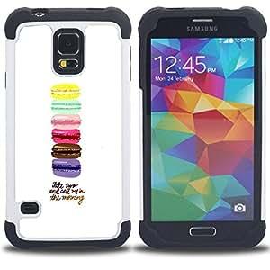 For Samsung Galaxy S5 I9600 G9009 G9008V - macaroons yellow blue pink brown purple Dual Layer caso de Shell HUELGA Impacto pata de cabra con im??genes gr??ficas Steam - Funny Shop -