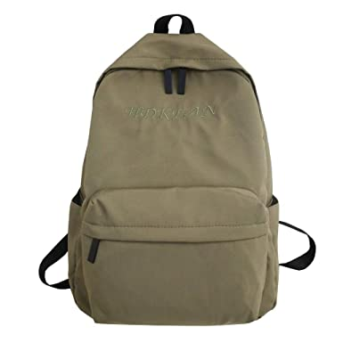 2904116960f2 Amazon.com: Outsta School Backpack,Large Capacity Solid Color ...