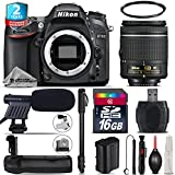 Holiday Saving Bundle for D7100 DSLR Camera + AF-P 18-55mm + Battery Grip + 2yr Extended Warranty + 16GB Class 10 + 72 Monopod + UV Filter + Cleaning Kit + Cleaning Brush - International Version