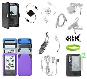 CrazyOnDigital Essential Accessory Kit for Amazon Kindle 3 (17-items)
