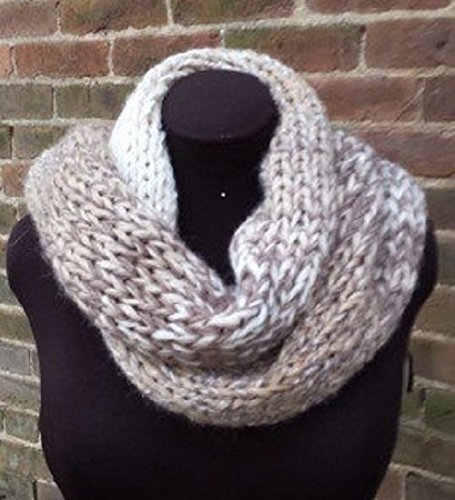 Amazon Brown And Cream Infinity Scarf Chunky Infinity Scarf