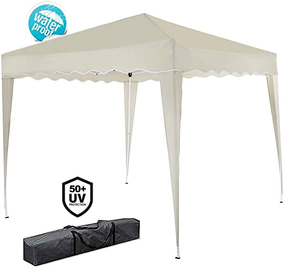 Bakaji Gazebo 3 x 3 mt plegable impermeable plegable 3 x 3 Pérgola ...