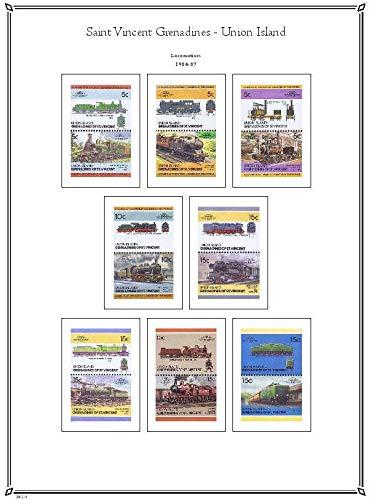 (Palo Albums Saint Vincent - Union Island 1984-2012 Stamp Album Pages - Country Pages)