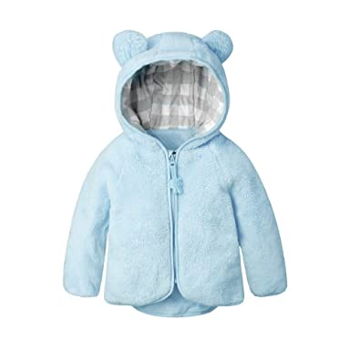 8ceb4cb0d892 Amazon.com  Kimjun Infant Baby Girl Boy Fleece Jacket Coat Toddler ...