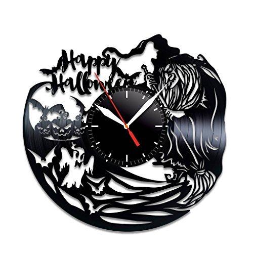 Happy Halloween Vinyl Record Wall Clock, Beautiful Home Decor, Best GIF -