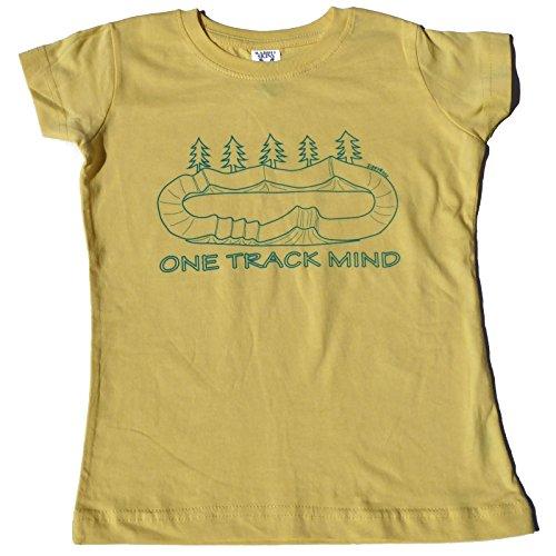 Bmx Kids T-shirt - ZippyRooz Toddler & Kids BMX Bike Tee Shirt One Track Mind For Youth Girls (5/6)