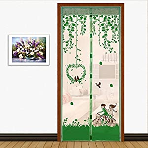 Full frame velcro Screen doors for homes,Screen doors with magnets Velcro magnetic screen door mesh summer cut off The mosquito Door curtain Screen-E 80x200cm(31x79inch)