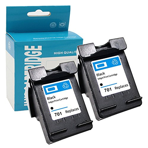Hehua Compatible for HP 701 CC635A Ink Cartridges use with HP Fax 640 650 2140 (2 Black) (Inkjet 2140 Fax)