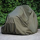 "Waterproof Lawn Mower Cover by Family Accessories - Best Quality, Heavy Duty, Durable, UV and Water Resistant Cover for Your Riding Garden Tractor - Up to 54"" Decks"