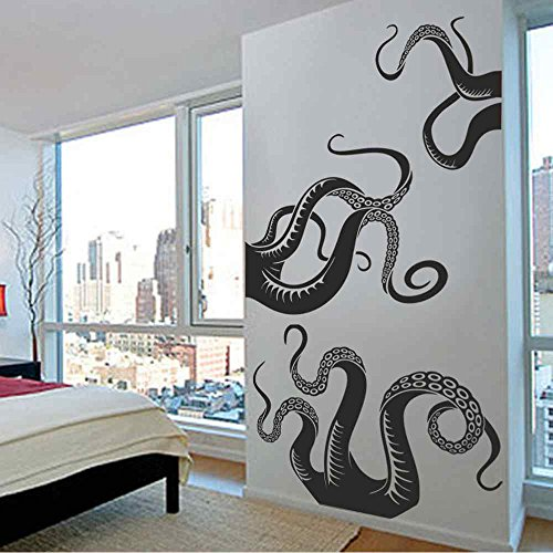 Cheap  BATTOO Large Kraken/Octopus Tentacles Vinyl Wall Decal - Squid Bathroom Doorway Shower..