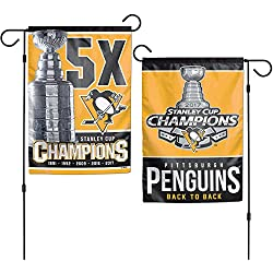 Pittsburgh Penguins NHL Stanley Cup Champions Double Sided Garden Banner