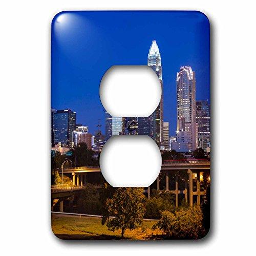 Danita Delimont - North Carolina - North Carolina, Charlotte, dawn - Light Switch Covers - 2 plug outlet cover - Charlotte Carolina Outlets North