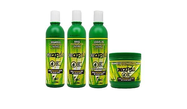 Amazon.com : BOE Crece Pelo Fitoterapeutico Natural Shampoo & Rinse & Leave-in & Treatment