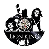 Cheap Vinyl Wall Clock Lion King Creative Record Clock