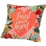American Flat 'Trust Your Heart' Pillow by Mia Charro, 20' x 20' coupons 2017