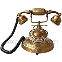 Retro Style Rotary Dial Telephone Antique Handmade Vintage Brass Telephone Home And Office Article