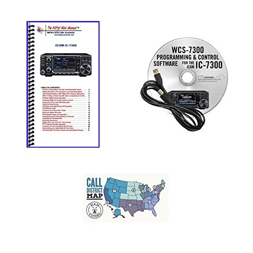 Icom IC-7300 Accessory Pack Bundle - WCS 7300 Programming So