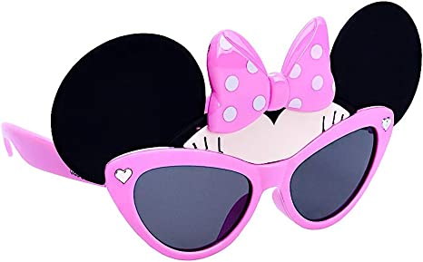 Women/'s Disney Sunglasses Minnie Mouse Bow Polka Dots
