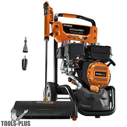 Generac SpeedWash 7122 3200 PSI 2.7 GPM 196cc Gas Powered Pressure Washer System with Attachments from Generac