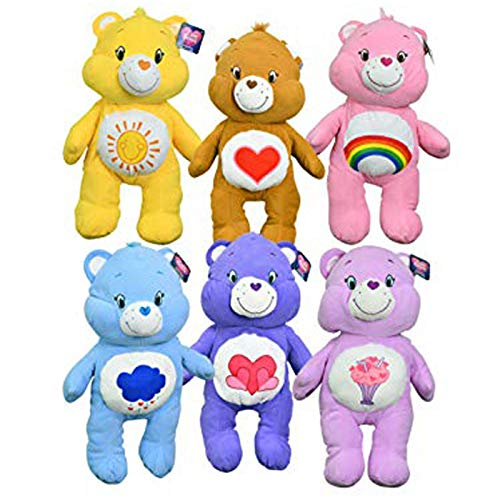 "Care Bears Large 24"" Pillow Plush Goody! 6-Pack Collection: Grumpy Bear, Share Bear, Funshine Bear, Harmony Bear, Tenderheart Bear and Cheer Bear from Care Bears"