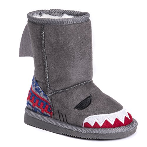 Pictures of MUK LUKS Boys Kid's Finn Shark Grey 9 M US Toddler 9