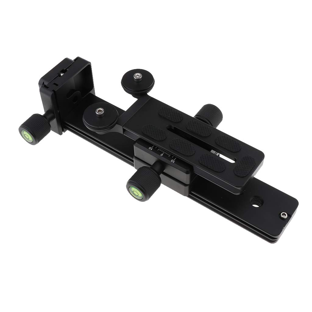 B Blesiya Metal Lens Support Rail Rod Mount, Cameras and Camcorders Telephoto Lens Rail Rod Rig System with 1/4 Inch & 3/8 Inch Screw Hole