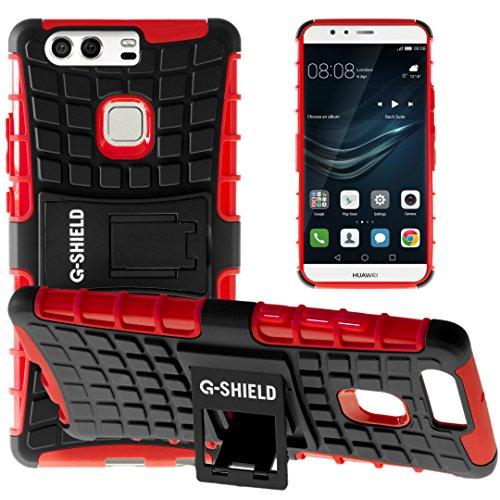 Funda Huawei P9 Plus, G-Shield Carcasa Extremo Protección [Con Soporte] [Anti-Arañazos] [Anti-Choque] [Muy Resistente] Híbrida a Prueba de Golpes Case Cover Para Huawei P9 Plus - Azul Rojo