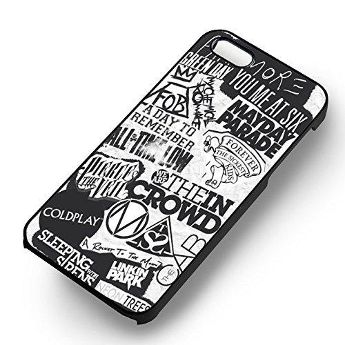 Paramore Band Collage pour Coque Iphone 6 et Coque Iphone 6s Case (Noir Boîtier en plastique dur) H1X2YY