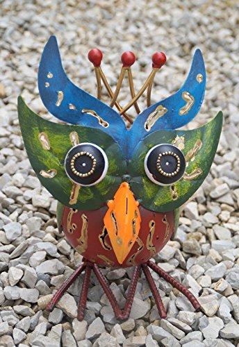 point-garden Gartenfigur aus Metall Dekofigur Eule