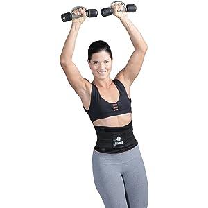 4d7378b359 Tecnomed Aerobics Waist Cincher Tummy Trimmer Belt Weight Loss Slimming  Workout