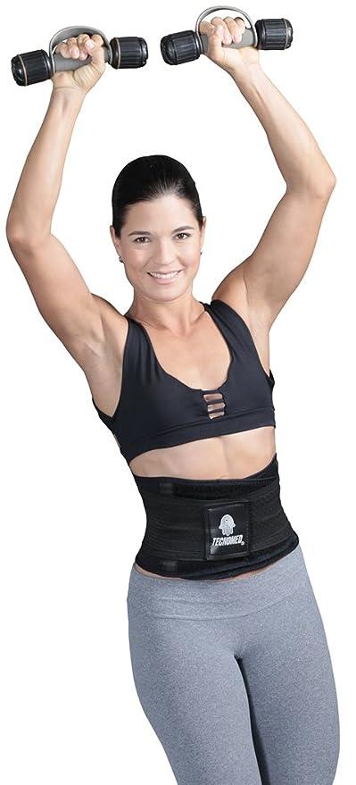 e10ae816c28 Amazon.com  Tecnomed Aerobics Waist Cincher Tummy Trimmer Belt Weight Loss  Slimming Workout  Sports   Outdoors